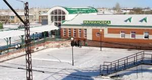 Зима Марьяновка Омская область
