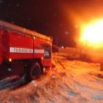 Возгорание автомобиля Марьяновском районе