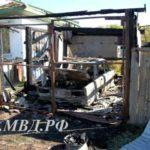 Молодой парень угнал автомобиль и спалил гараж