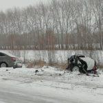 После аварии машину разорвало на две части