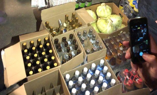 В Марьяновке  изъяли крупную партию контрафактного алкоголя и сигарет