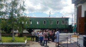 Омичи съездили на электричке на экскурсию в марьяновку