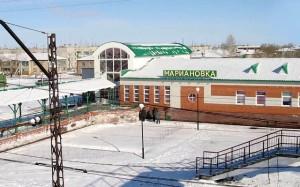 Зима р.п. Марьяновка Омская область