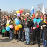 1 мая в Марьяновке прошел митинг