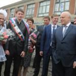 Губернатор поздравил выпускников  Марьяновского района с окончанием учебного года