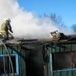 Возгорание надворных построек в Марьяновском районе