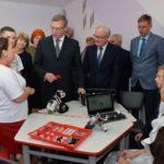 Губернатор открыл образовательный центр в Марьяновском районе